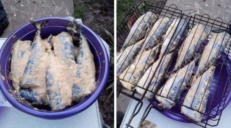 Скумбрія на мангалі, виходить навіть смачніше ніж шашлик
