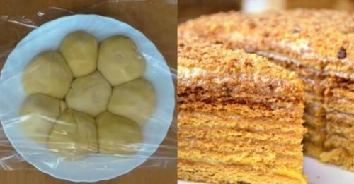 Нарізається як масло і просто тане в роті. Всіма улюблений торт «Бджілка»